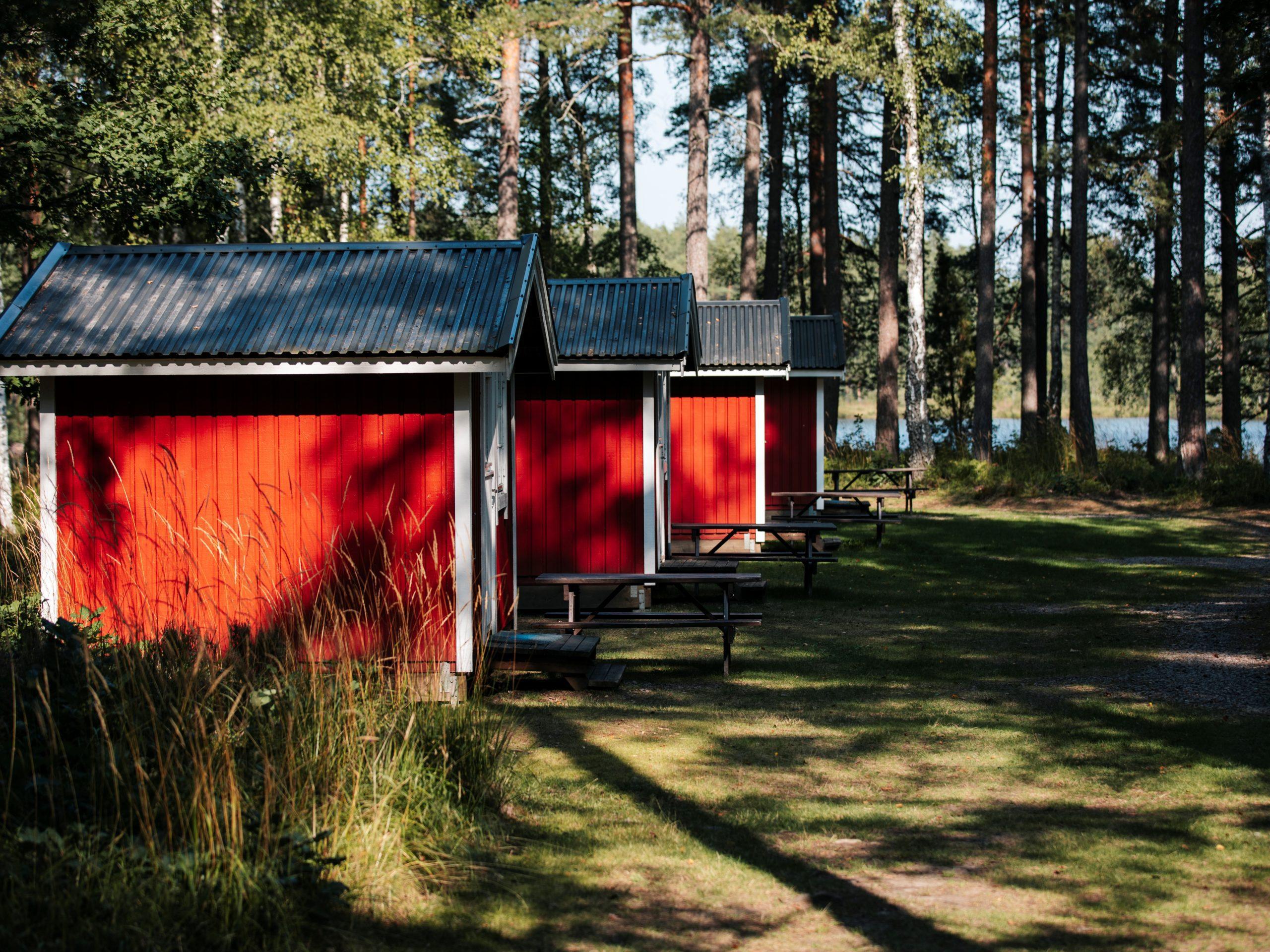 Pondok memancing di daerah Stora Hammarsjö