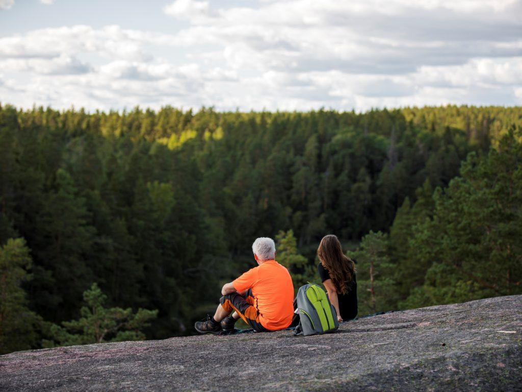 Vy från Björnnäsets naturreservat